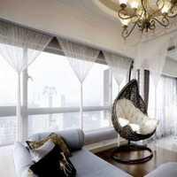 现代风格公寓卧室黑白色墙面装饰装修效果