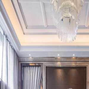 臥龍山莊現代臥室床頭背景墻裝修設計效果圖