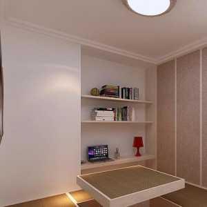 书房书架书桌富裕型装修效果图